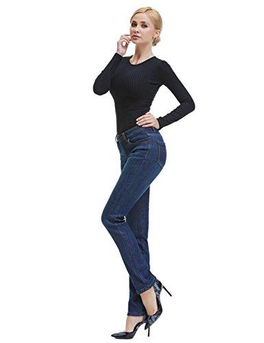 Camii Mia Women's Thick Thermal Slim Fit Jean Pants (W30 x L32, Blue Grey (new size)) by Camii Mia (Image #5)