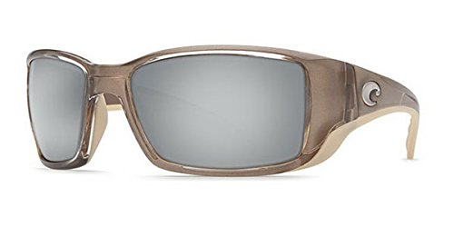 Costa Del Mar Sunglasses - Blackfin- Glass / Frame: Crystal Bronze Lens: Polarized Silver Mirror Wave 580 ()