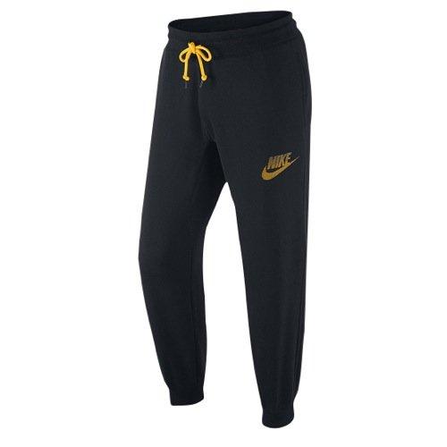 Nike mens AW77 FLC CUFF PANT-FUTRA 678517-010_S - BLACK/LASER ORANGE