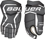 Bauer Senior Supreme 150 Glove, Black/White, 14