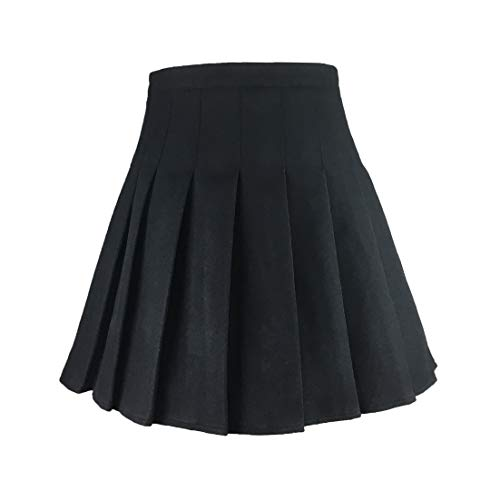 Hoerev Women Girls Versatile Plaid Pleated Skirt with Shorts for Cold ()