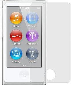 Membrane 3 x Displayschutzfolie Kompatibel mit Apple iPod Nano 7G / 7 Generation - Kristallklar