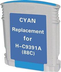 Ink Now Premium Remanufactured Cyan Cartridge for HP Officejet K550; OfficeJet Pro K5400, K550, K8600, L7480, L7500, L7550, L7555, L7580, L7590, L7600, L7650, L7680, L7681, L7700, L7750, L7780 Printers, OEM part number C9391AN, 9386AN, #88XL Cyan
