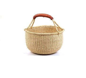 Hands Craft Fair Trade Ghana Bolga African Dye-Free Market Basket Natural Baskets (9