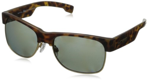 - Hobie Doho Rectangular Sunglasses,Satin Leopard Tortoise , Satin Gold,56 mm