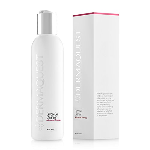 DermaQuest Advanced Therapy Foaming Glyco Gel Cleanser with 15% Glycolic Acid & Lactic Acid - Deep Cleansing Face Wash for Oily Skin and Papular Acne, 6 -