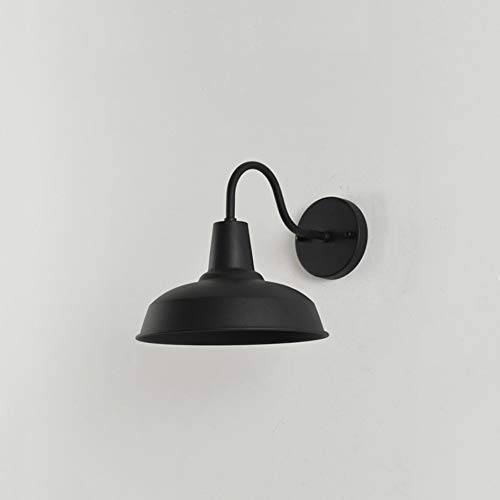 Yaione Outdoor Wall Lantern Black Industrial Vintage Farmhouse Wall Sconce Lighting Gooseneck Wall Light Fixtures Plug in Cord with On Off Switch E27 Base for Indoor and Bedroom Set of 1