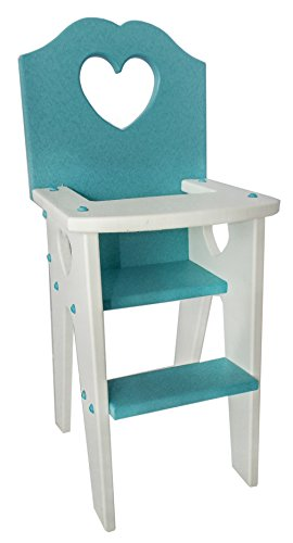 Allamishfurniture AMERICAN GIRL DOLL HIGH CHAIR POLY Amish Toy RUGGED FOR PLAY
