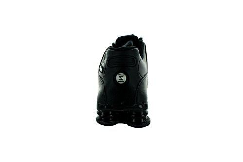 Zapatos corrientes de cuero Shox NZ Black/White/Black
