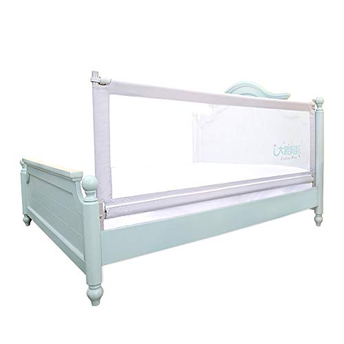 Rail Lock Guard (Adjustable Height Bed Rail for Toddlers Extra Tall Baby Bedrail, Swing Down Safety Grey Kids Guard Rail for King Size Bed (Size : Heightened-200cm))