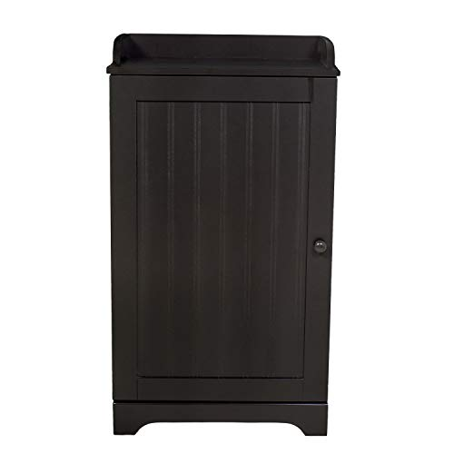 WholesalePlumbing Free Standing Espresso Bathroom Floor Storage Cabinet Organizer Adjustable Shelf