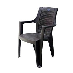 Nilkamal Rosa Plastic Chair (Rust Brown, Set of 2)