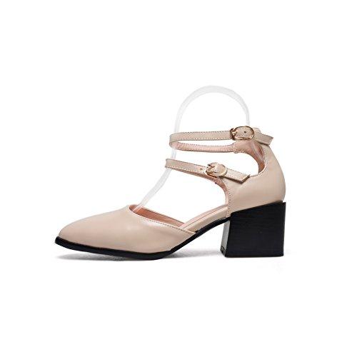 BalaMasa Womens Non-Marking Mini-Size Cold Lining Urethane Sandals ASL05112 Apricot 4RKDA1GFrU
