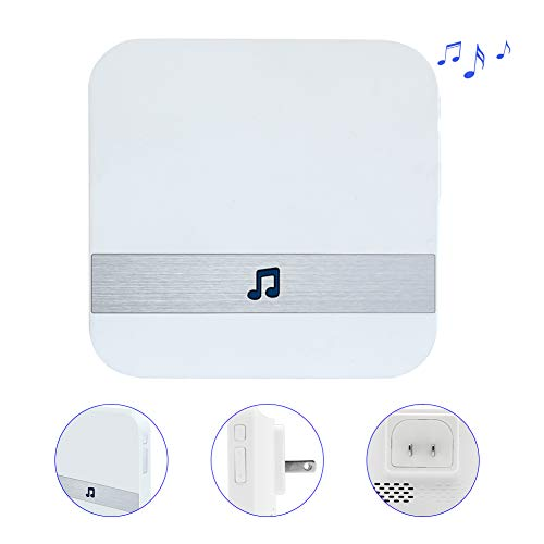WiFi Doorbell Chime Wireless Indoor Doorbell Chime Extender Kit with Volume&Melody Selection for Home Security