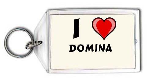 Schlüsselhalter mit Aufschrift Ich liebe Domina (Vorname/Zuname ...