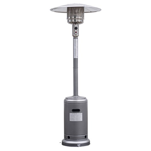 Giantex Steel Outdoor Patio Heater Propane Lp Gas W/Accessories (Silvery Gray) (Your Patio)
