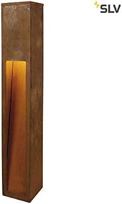 Slv rusty - Baliza 80 led cuadrado 8,6w 3k ip55 oxido: Amazon.es: Iluminación