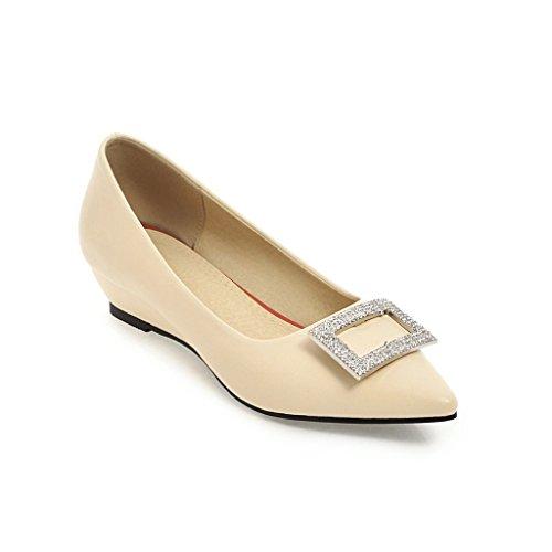 Elegante superficial del agua-pendiente con números grandes con los zapatos de mujer casual Meterwhite3CM
