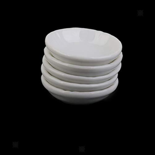 NATFUR 1/12 Dolls House Mini Kitchen Ware 5Pcs Ceramic Dinner Plates Dishes ()