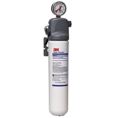 Image of 3M Water Filtration System for Commercial Ice Maker Machines, High Flow Series, Reduces Sediment, Chlorine Taste and Odor, Cysts, Inhibits Scale, 1.5 GPM, 9,000 Gallon Capacity Home and Kitchen
