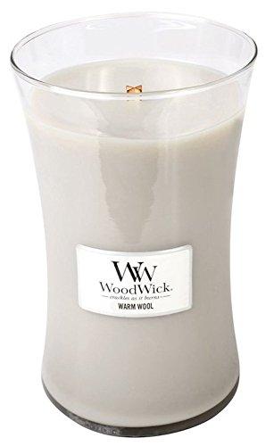 WARM WOOL - WoodWick 22oz Large Jar Candle Burns 180 Hours (Warmer Oz Jar Candle 22)