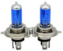 100w Super White High Quality Xenon Gas filled H4 HIGH//LOW Beam light bulbs for 99 00 01 02 03 Chevrolet Tracker// 93 94 95 96 Eagle Summit Wagon// 94 95 96 97 Ford Aspire// 01 02 03 04 Ford Escape// 00 01 02 03 04 Ford Focus//