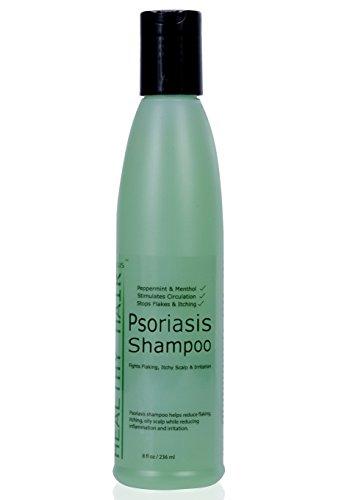 Le Psoriasis Shampooing - Cibles du Psoriasis, de l'Eczéma et de la Dermatite - Aide aux Démangeaisons et sécheresse du cuir Chevelu