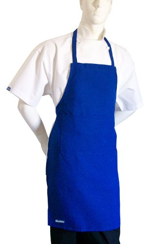 CHEFSKIN Royal Blue Chef Apron and Hat Set New Ultralight Fabric, Adjustable Soft (Adults (fits Most)) ()