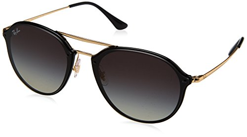 Ray-Ban 0rb4292n601/1162blaze Doublebridge Square Sunglasses, Black, 62 - Ban Black Blaze Ray