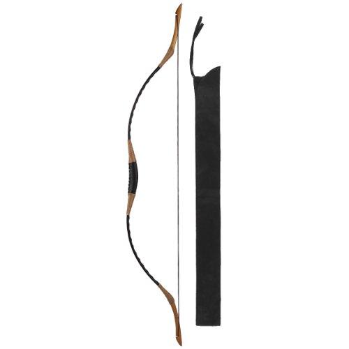 Hungarian Style Handmade Longbow Flagella Recurve Horsebow Archery 30-60LBS H1 (50 LB)