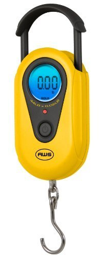American Weigh SR-20 Yellow Digital Hanging Scale, 44lb by 0.02lb