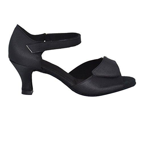 Misu Womens Sandali Peep Toe Latini Salsa Tango Pratica Scarpe Da Ballo Sala Da Ballo Con 2,2 Tacco