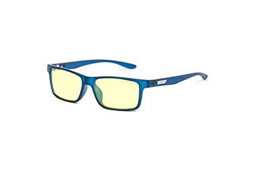 (GUNNAR Gaming and Computer Eyewear /Cruz, Navy Frame, Amber Tint - Patented Lens, Reduce Digital Eye Strain, Block 65% of Harmful Blue Light - Not Machine Specific)