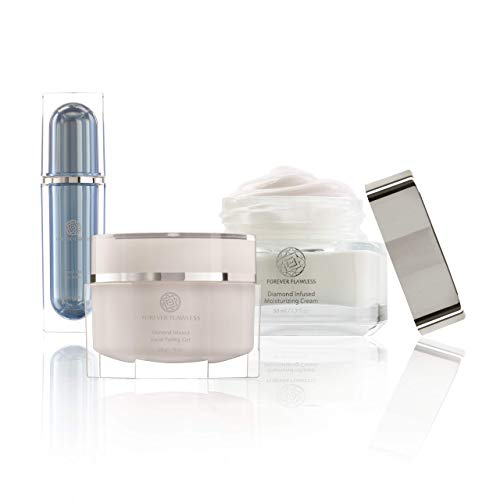 Forever Flawless Beauty Set for a Flawless Skin. Includes Best-Selling Diamond Infused Facial Peeling Gel, Moisturizing…