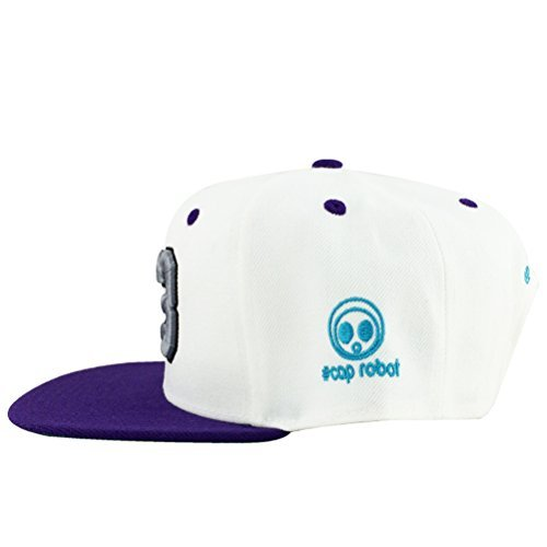 Number #23 White Grey Purple Visor Hip Hop Snapback Hat Cap x Air Jordan Grape