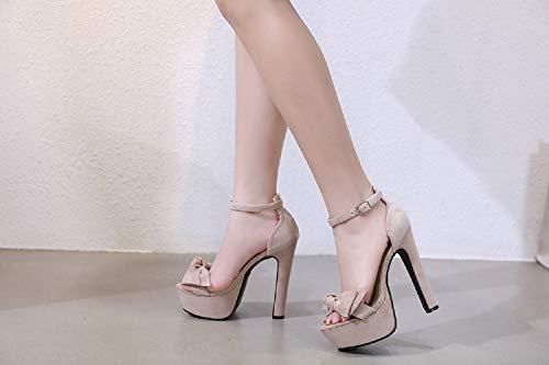 Botón Plataforma Mujer Tacón Grueso 1 Arcos Sandalias Moda Alto Para Zapatos Fengjingyuan De wxHAqYHf