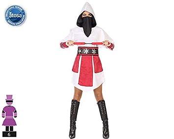 Atosa-54573 Disfraz Ninja, Color Blanco, XS-S (54573: Amazon.es ...