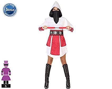 Atosa-54583 Disfraz Ninja, Color Blanco, M-L (54583: Amazon ...