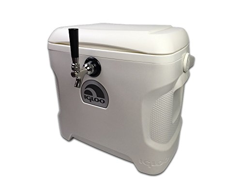 - Coldbreak Jockey Box, 1 Tap, Stainless Pass Through, 30 Quart Cooler, 50' Coil, Stainless Steel Shanks, Includes Stainless Faucet