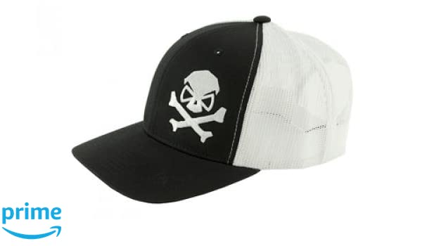 info for 98bcc dd468 Amazon.com   Pipe Hitter s Union Skull   Bones Trucker Hat, Black White,  One Size   Sports   Outdoors