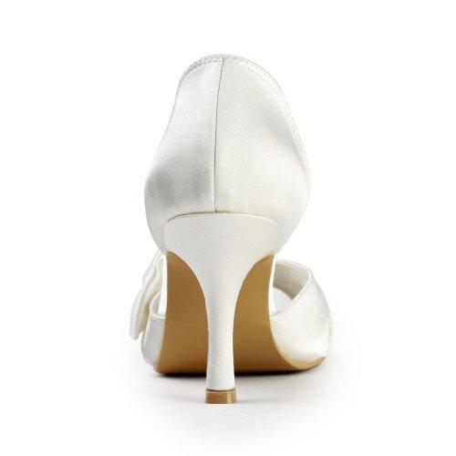 Bas Wommen De Bal Mariée Peep Satin Jia Talon Toe Danse Chaussures Mariage Fête Beige Pompes 8390a De Jia De De 8TIqn