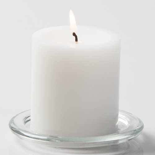 Richland 2.8''x 3'' Pillar Candles White Unscented Set of 12
