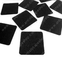 Black Standard Anti Slip Tape Cut Pieces 5.5''x5.5'' Rounded Corners