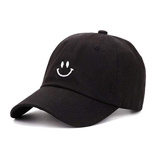 Smiling Baseball Cap Adorable Sun Caps Fishing Hat for Men Women Unisex-Teens Black]()