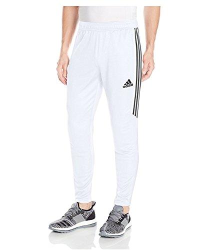 adidas Men's Soccer Tiro 17 Pants, Small, White/Black -