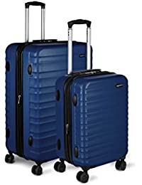 "Hardside Spinner Luggage - 2 Piece Set (20"", 28""), Navy Blue"