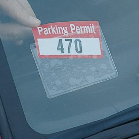 Parking Permit Holder - Sticky Back - For Windshield - 1 (Parking Decal)