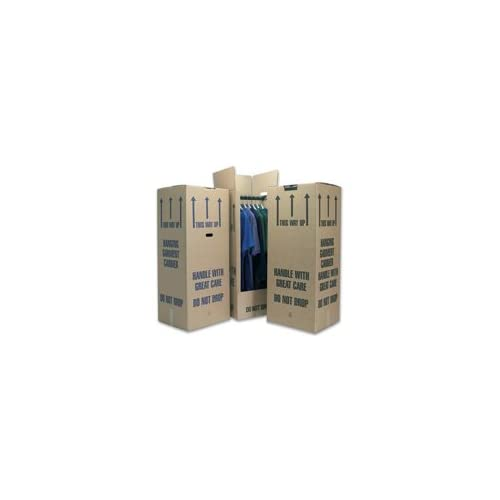 """10 Tall Wardrobe Boxes Removal Garment Carriers 20 x 19 x 49"""", strong double wall cardboard, FREE express delivery"""
