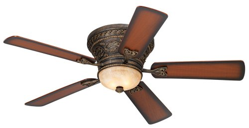 52″ Casa Vieja Ancestry Hugger Ceiling Fan For Sale