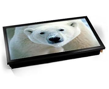 Polar Bear Computer Laptop Tray Cojín Bandeja para Portátil